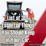 30+ Essential Things You Should Keep In Your Car