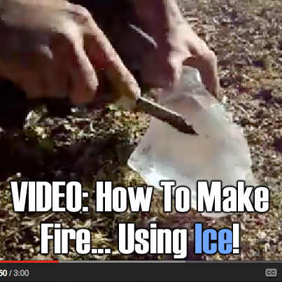 VIDEO - How To Make Fire Using Ice