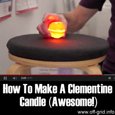 How To Make A Clementine Candle (Awesome)