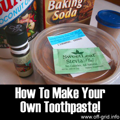 How To Make Your Own Toothpaste!