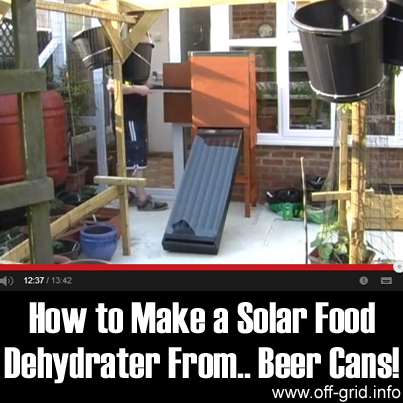 How to Make a Solar Food Dehydrater From... Beer Cans!
