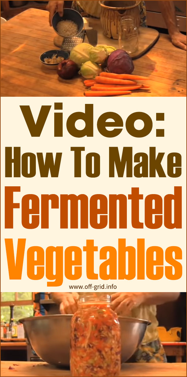 Video How To Make Fermented Vegetables