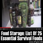 Food Storage: List Of 25 Essential Survival Foods