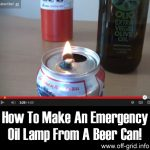 How To Make An Emergency Oil Lamp From A Beer Can!