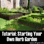 Tutorial: Starting Your Own Herb Garden