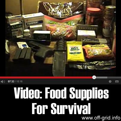 Video - Food Supplies For Survival