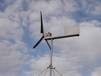 Home-Built Electricity Producing Wind Turbine