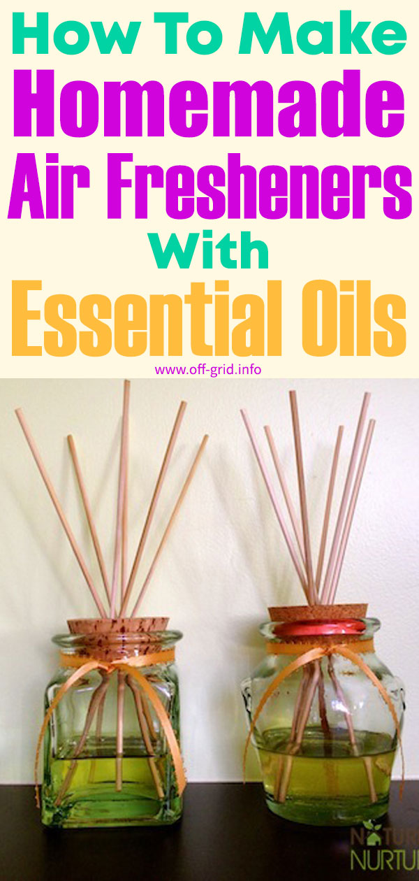 How To Make Homemade Air Fresheners With Essential Oils