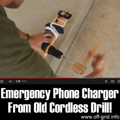 Emergency Phone Charger From Old Cordless Drill!!
