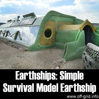 Earthships - Simple Survival Model Earthship
