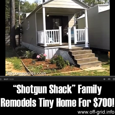 Shotgun shack family remodels tiny home for $700!