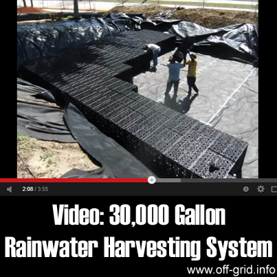 Video- 30,000 Gallon Rainwater Harvesting System