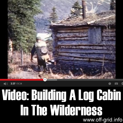 Video- Building A Log Cabin In The Wilderness