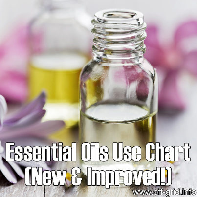 Essential Oils Use Chart - New & Improved
