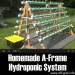 Homemade A-Frame Hydroponic System