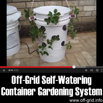 Off Grid Self Watering Container Gardening System Off Grid