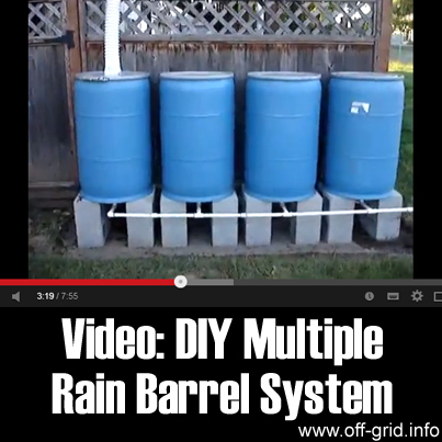 video diy multiple rain barrel system off grid