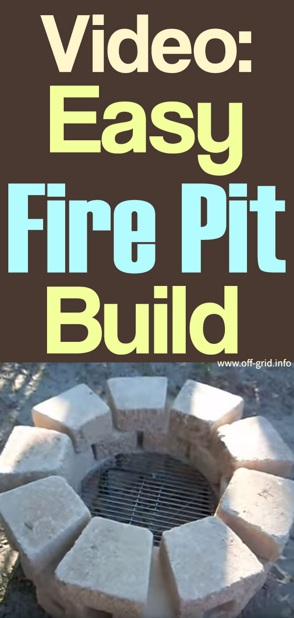 Video Easy Fire Pit Build