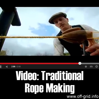 Video - Traditional Rope Making