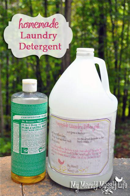 DIY Homemade Laundry Detergent Tutorial