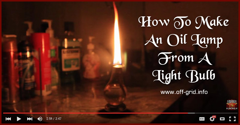 How To Make An Oil Lamp From A Light Bulb