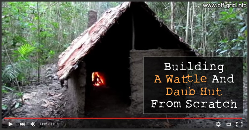 Building A Wattle And Daub Hut From Scratch