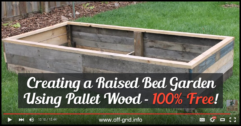 Amazing Creating A Raised Bed Garden Using Pallet Wood   100 Percent Free!