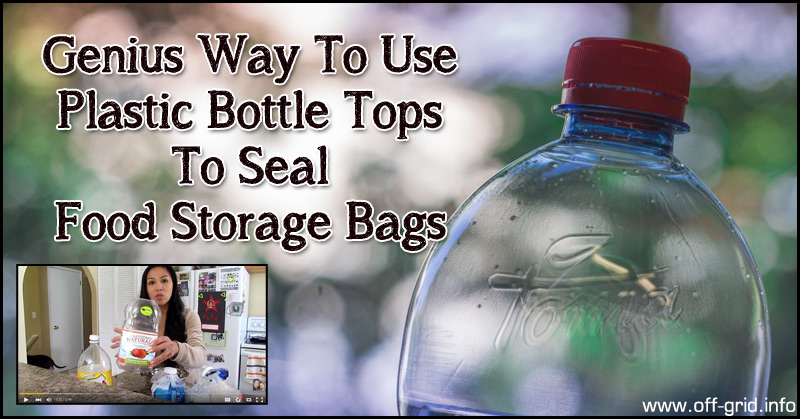 Genius Way To Use Plastic Bottle Tops To Seal Food Storage Bags