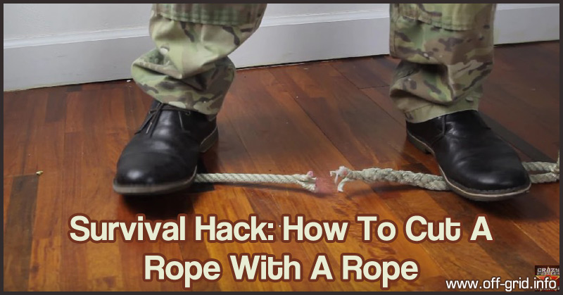 How To Cut A Rope With A Rope - Survival Hack