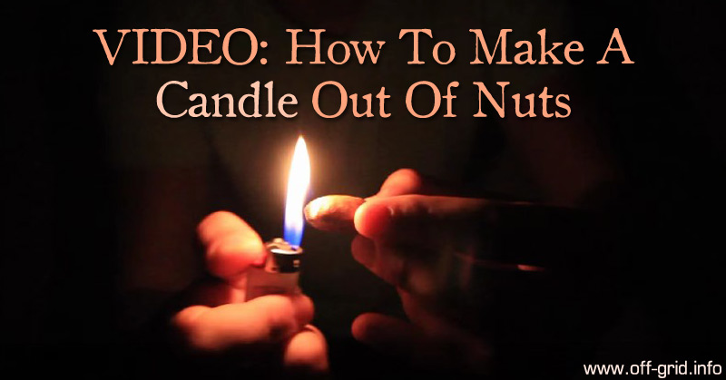 Video How To Make A Candle Out Of Nuts