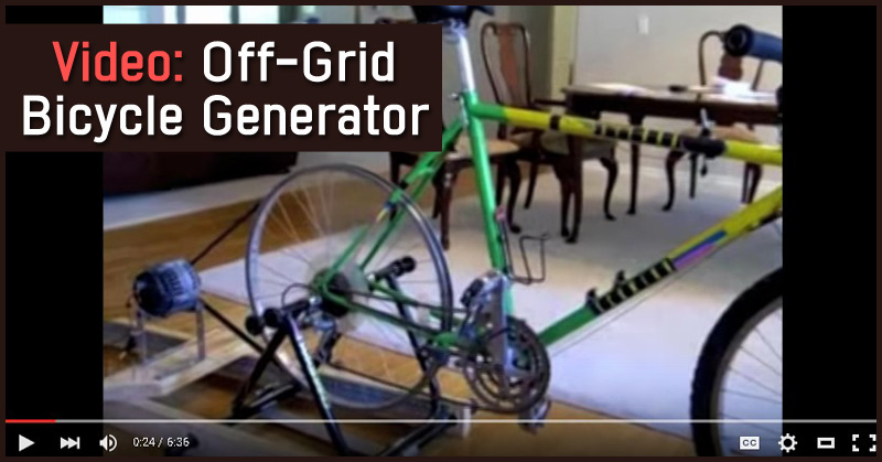 Video Off-Grid Bicycle Generator