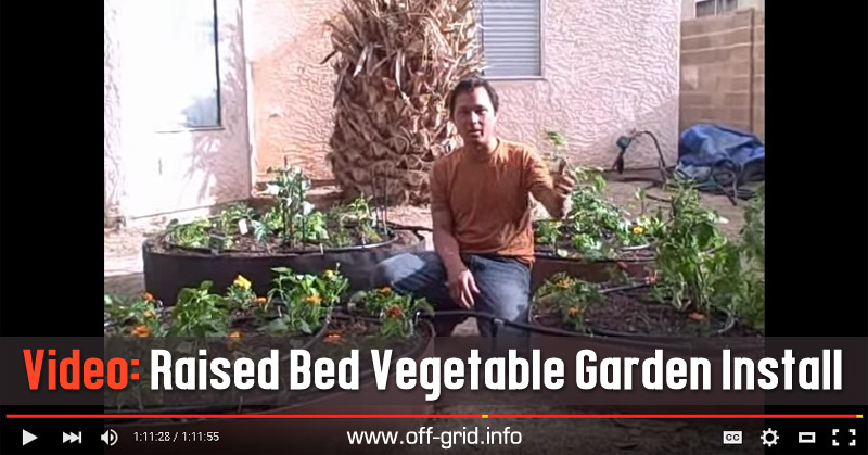 Video Raised Bed Vegetable Garden Install