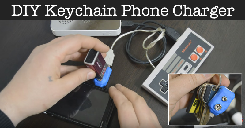 DIY Keychain Phone Charger - (runs without electricity)