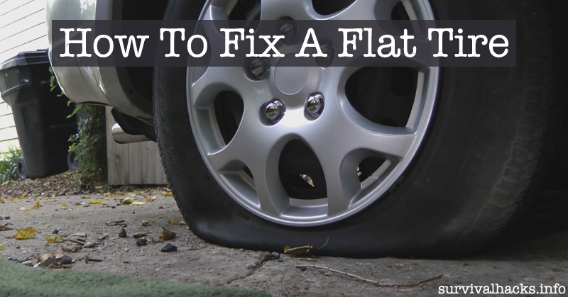 how to temporarily fix a flat tire