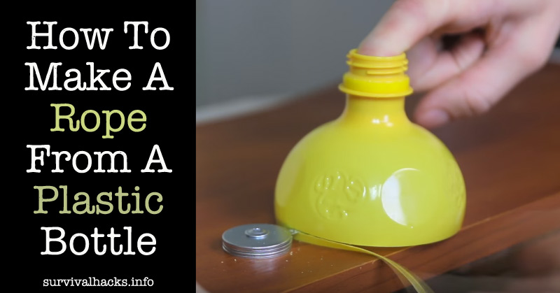 How To Make A Rope From A Plastic Bottle