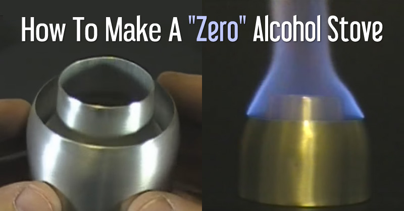 how to make a zero alcohol stove off grid