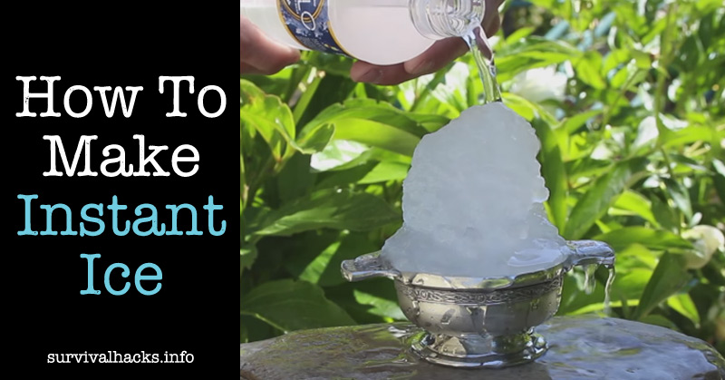 How To Make Instant Ice