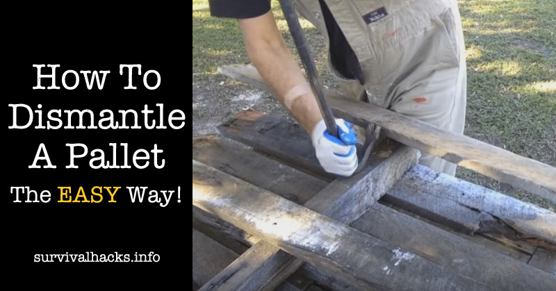 How To Dismantle A Pallet... The EASY Way! Two Great Techniques