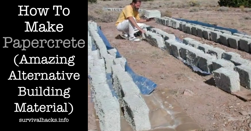 How To Make Papercrete (Amazing Alternative Building Material)