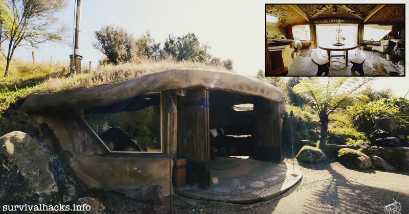This Astonishing Magical Hobbit House Is An Off-Grid Bed & Breakfast