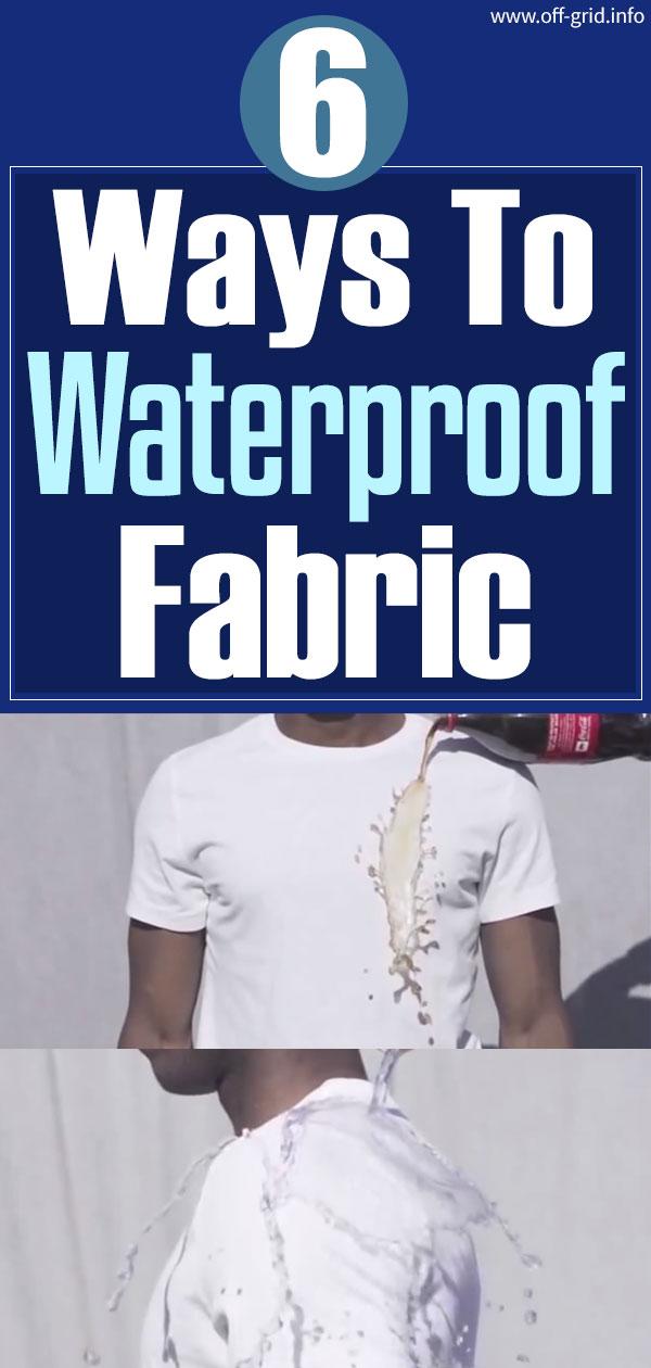 6 Ways To Waterproof Fabric