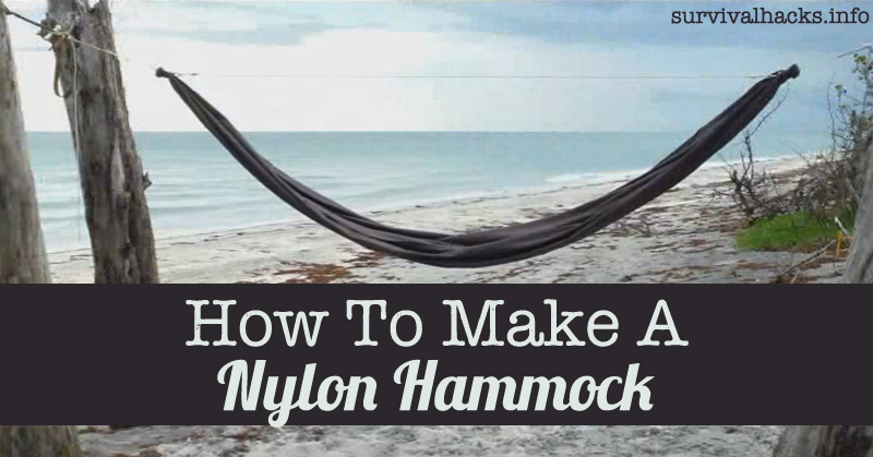How To Make A Nylon Hammock