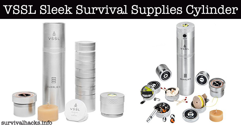This Survival Supplies Cylinder Is A Complete Survival Kit In A Can