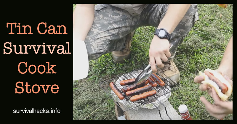 Tin Can Survival Cook Stove Off Grid