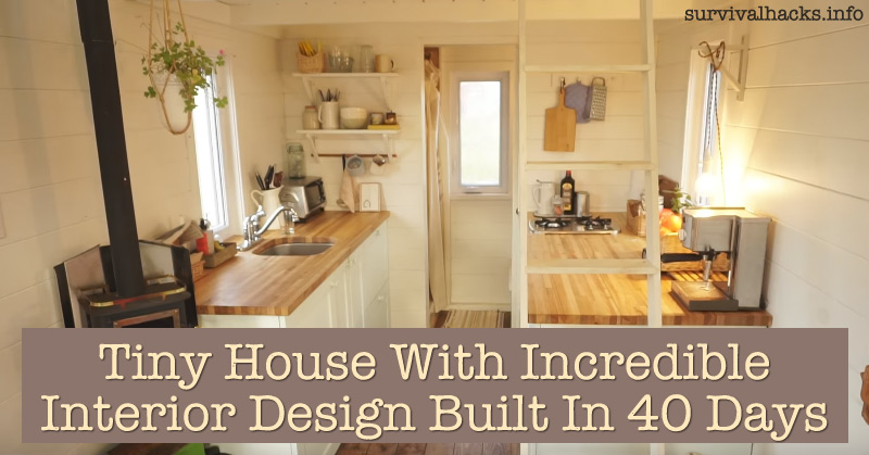 Tiny house with incredible interior design built in 40 days off grid House interior design for small houses