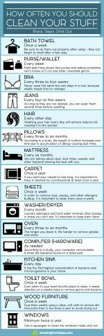 How Often You Should Clean Your Stuff (Infographic)