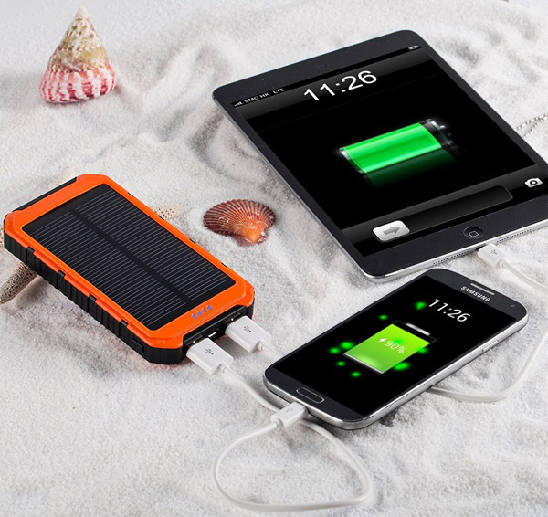 Portable Solar Power Bank 10000mAh