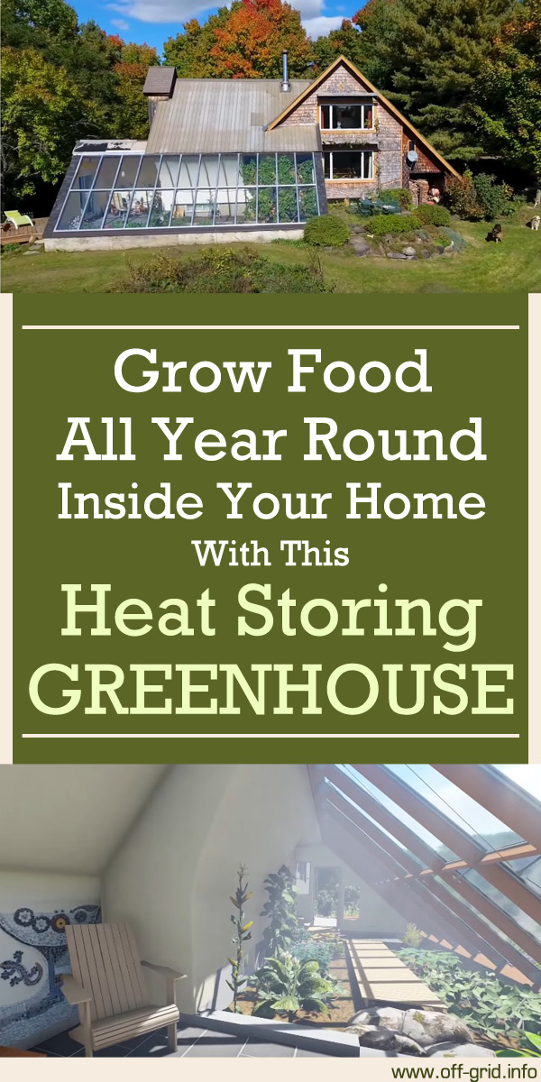 Grow Food All Year Round Inside Your Home With This Heat Storing Greenhouse