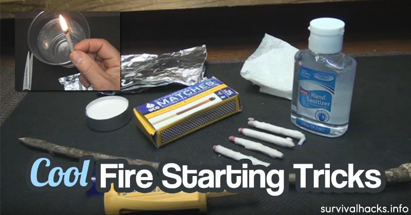 Cool Fire Starting Tricks