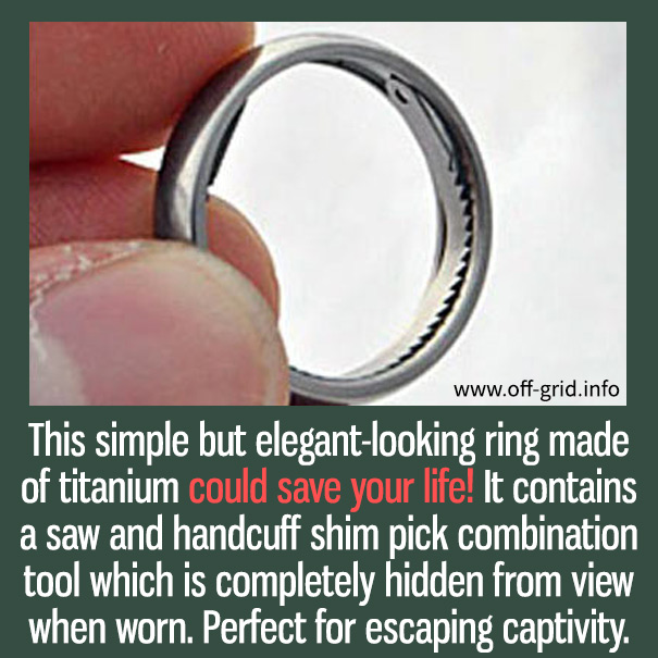 This Amazing 007 Ring Is An Survival Essential That Could Save Your Life